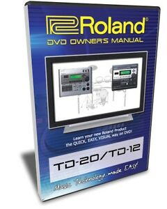 roland td 20 td 12 dvd training tutorial manual help ebay roland td-20 specifications roland td-20 service manual