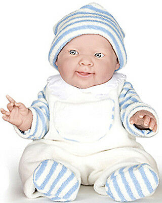 Berenguer Doll La Newborn Real Boy Blue/White, 14 inch all vinyl, ages 2+ NEW