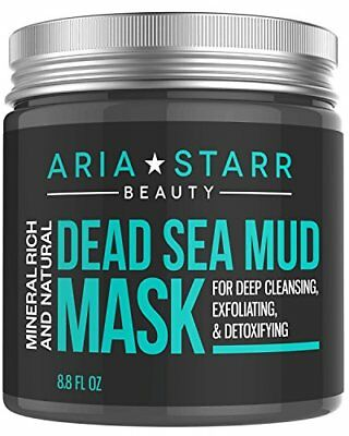 Aria Starr Dead Sea Mud Mask For Face, Acne, Oily Skin  Blackheads - Best