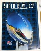 Super Bowl XXI Program