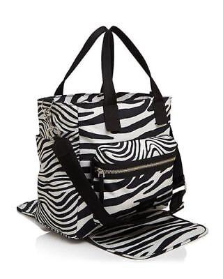 Marc Jacobs Zebra Print Biker Baby Bag Diaper Shoulder Bag Travel Tote Beach Bag