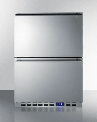 Built-in under counter two-drawer, frost-free all-refrigerator