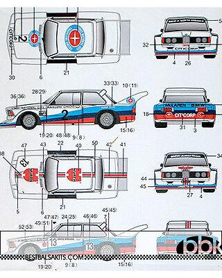 1/24 DECAL BMW 320i RACING WURTH #13 TRAVELERS CHECKS #2 for TAMIYA