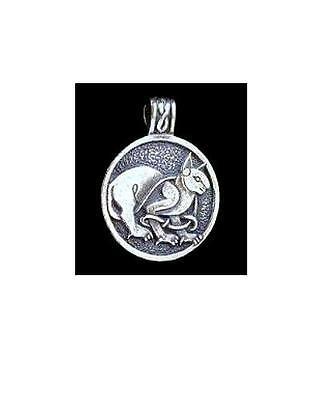 Celtic Cat Pendant ~Sterling Silver