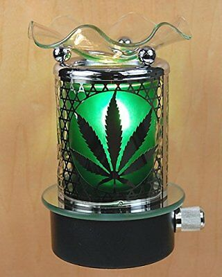 Marijuana Pot Leaf Plug In Oil Warmer Burner Night -