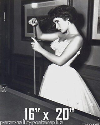 "Elizabeth Taylor~Pool~Pool Hall~Billiards~Cue~Poster~16"" x 20"" Photo"