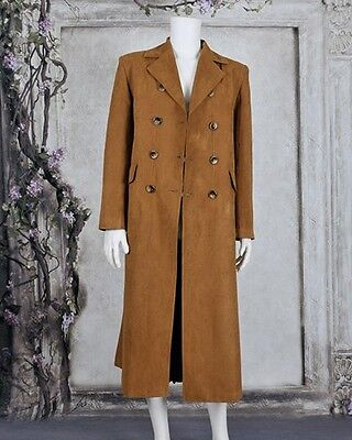 Costume Purchase (Who Purchase Doctor Dr Brown Trench Coat Party Suede Halloween Cosplay)