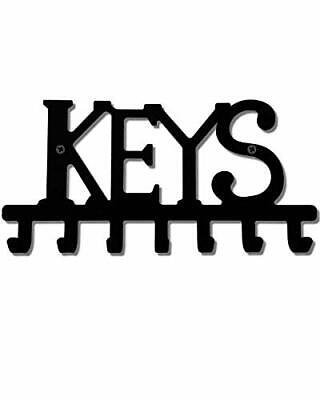 Keys Holder Hooks Organizer Rack Wall Mounted with Screws and Anchors Home Bl...