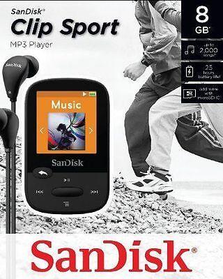 SanDisk Sansa Clip Sport Black 8GB MP3 Player FM Radio  (Sansa Clip Sport)