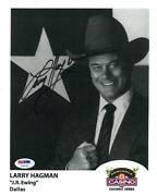 Larry Hagman Signed
