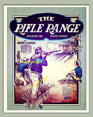 VINTAGE PHOTO MILITARY ANZAC RIFLE RANGE SHOOTER GUN POSTER ART PRINT BB12319B