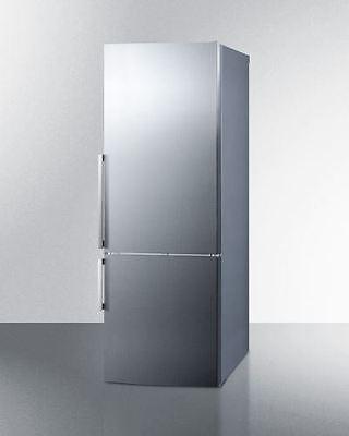 Frost-Free Energy Star Bottom Freezer Refrigerator- Stainless Steel (Bottom Freezer Energy Star Refrigerator)
