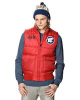 G-STAR RAW MEN PUFFY BOMBER DOWN VEST RED SIZE M