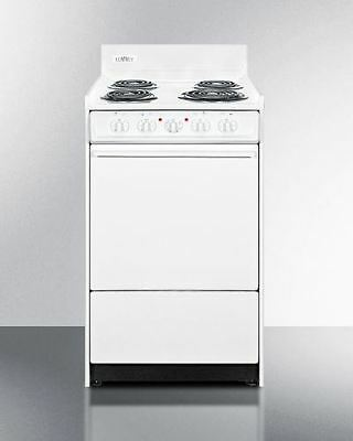 """Summit 20"""" Wide Electric Range with Storage Compartment"""