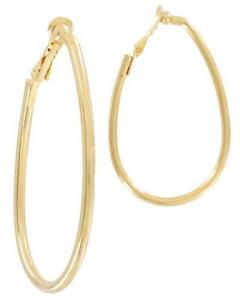 Large Clip On Hoop Earrings