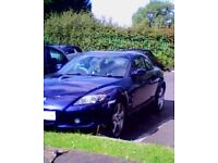 06 PLATE MAZDA RX8 VERY GD CONDITION 230 BREAK 58K FULL HSTRY LONG MOT N TAX NO ISSUES NICE CAR