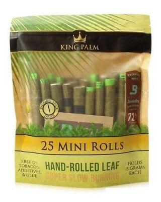 Corn Roll (King Palm Wraps Mini Size 25 ct 100% Tobacco Free Leaf Rolls Corn Husk)