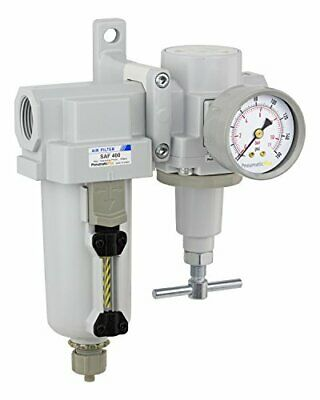 Pneumaticplus Heavy Duty Air Filter Regulator Combo 34 Npt T-handle