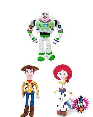 OFFICIAL TOY STORY TRIPLE PACK THREE SET  SOFT TOYS BUZZ LIGHT YEAR WOODY JESS ()