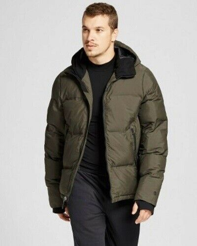 Champion Mens Puffer Jacket Coat Olive Green Size S (NWT) Clothing, Shoes & Accessories
