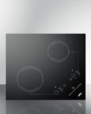 2-Burner 120V Electric Cooktop- Black