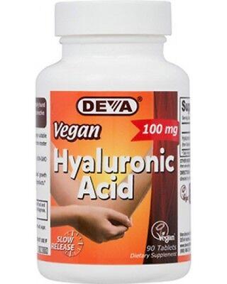 Deva Vegan Hyaluronic Acid, 100 mg, 90tabs. EXP 03/2021 ()