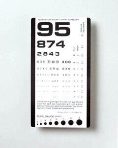 Grafco Pocket Size Plastic Eye Chart 6 3 8 X 3 1 2 Model 1243
