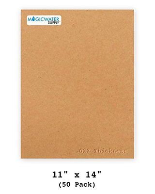 - 50 Sheets Chipboard 11 x 14 inch - 22pt Light Weight Brown Kraft Cardboard