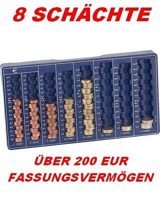 EURO*MÜNZBRETT*MÜNZSORTIERER*MÜNZZÄHLER*ZÄHLBRETT*8 SCHÄCHTE