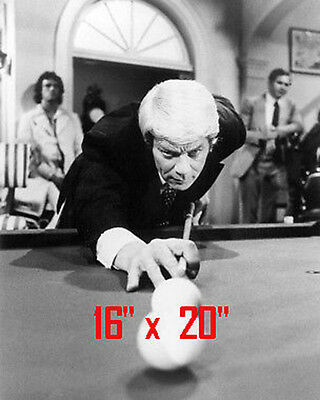 Peter Graves~Mission Impossible~Pool~Pool Hall~Playing Pool~Poster~16x20 Photo
