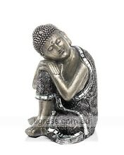 NEW Resting Silver Buddha Staute 16cm Indoor Outdoor Garden Castle Hill The Hills District Preview