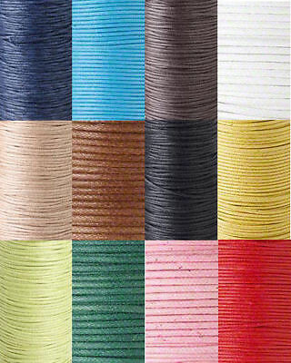 82ft Waxed Cotton Cord Beading String Cording Jewelry Macrame .5mm .7mm 1mm 2mm