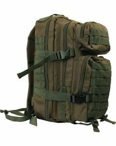 Olive-Green-Small-28-ltr-Daysack-Army-Camping-Rucksack-Assault-Pack