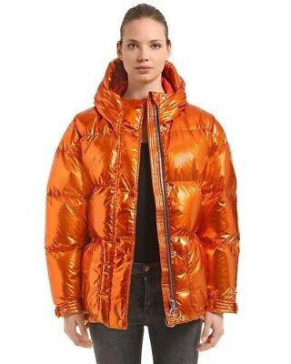 $1,525 IENKI IENKI Michlin Copper Foil Metallic Puffer Oversized Coat S