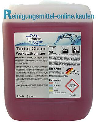 5L Liter 5000ml Werkstattreiniger Fettlöser Fettreiniger Ölreiniger Rußentferner