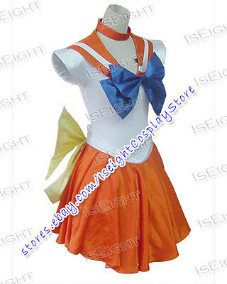 Sailor Moon Halloween Outfit (Sailor Moon Venus Cosplay Costume Beautiful Dress Outfit Halloween In Stock)