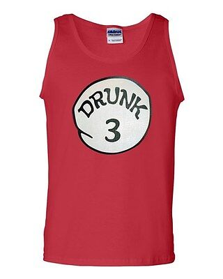 Drunk 3 Three Funny Costume Novelty Statement Graphics Adult Tank Top](Funny Trio Costumes)