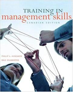 Training in Management Skills  Hunsaker and Dilamarter
