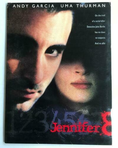 JENNIFER 8 1992 Movie Presskit w/8x10 Publicity Photos Uma Thurman Andy Garcia