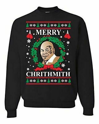 Merry Chrithmith Mike Tyson Ugly Christmas Sweater 2019 Funny Lisp Xmas Sweaters ()