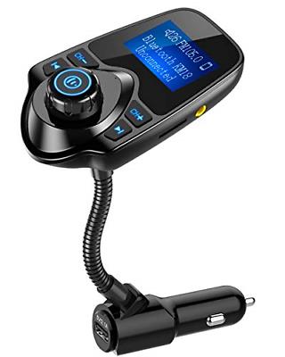 Nulaxy Bluetooth Car FM Transmitter Audio Adapter Receiver W
