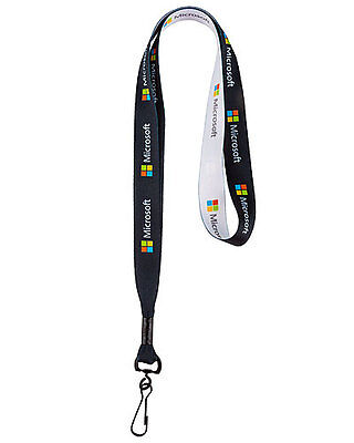 Microsoft Logo Lanyard Badge Holder by Microsoft - NEW (Black)