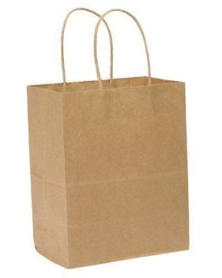 Kraft Shopping Bag 60 Natural Kraft Paper Shoppers 8 X 5 X 8 250 Bags