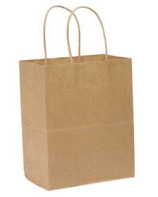 Kraft Shopping Bag 60 Natural Kraft Paper Shoppers 8 X 5 X 8 250 Bags