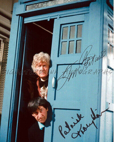 Doctor Who Jon Pertwee Patrick Troughton Signed 8x10 Autographed Photo reprint