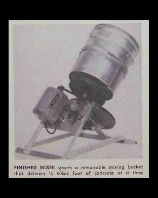 5 Gallon Cement Mixer How-to Build Plans Electric Power