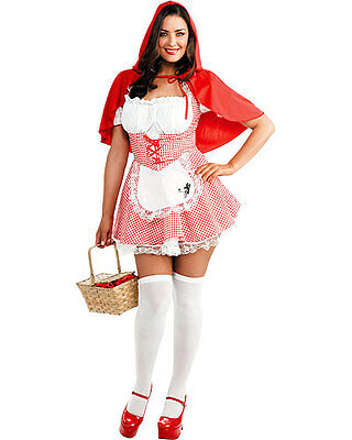 Lil Red Riding Hood Costume (New Teen Lil Miss Red Riding Hood Dress & Cape Costume Junior Small 3-5)
