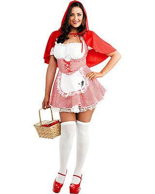 New Teen Lil Miss Red Riding Hood Dress & Cape Costume Junior Small 3-5