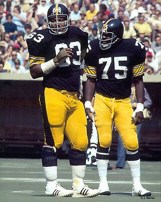 Ernie Holmes Pittsburgh Steelers (ERNIE HOLMES & JOE GREENE 1976 PITTSBURGH STEELERS HOF 8X10 PHOTO )