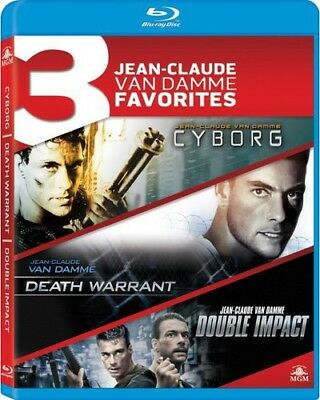 3 Jean-Claude Van Damme Favorites: Cyborg / Death Warrant / Double Impact [New B